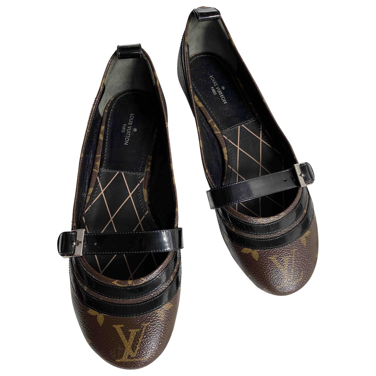Louis Vuitton \N Ballerinas in  Braun Leinen