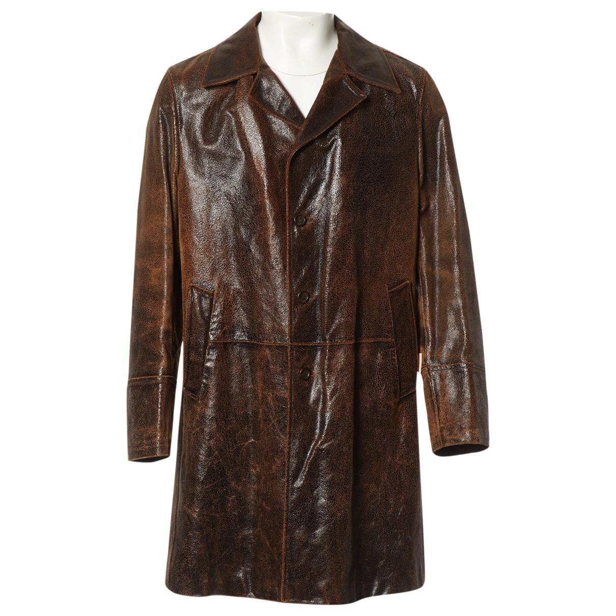 Dolce & Gabbana - Vestes.Blousons   pour homme en cuir - marron