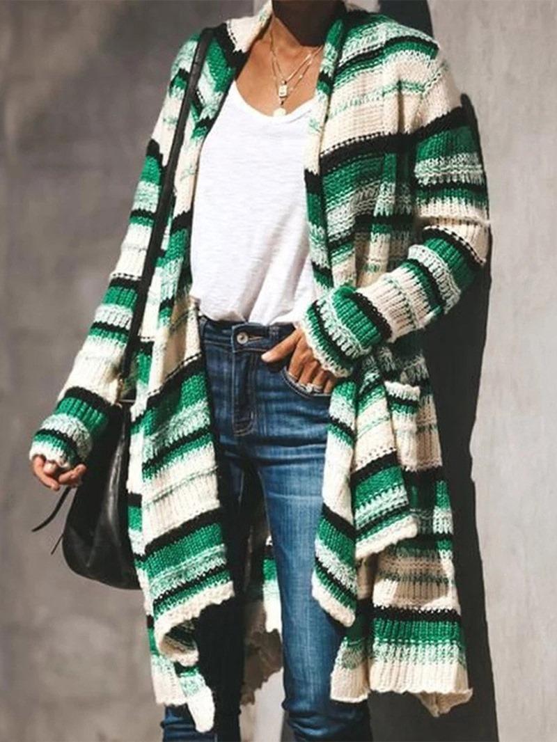 Ericdress Regular Color Block Women's Knit Cardigan