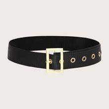 Cinturon de lona con hebilla metalica