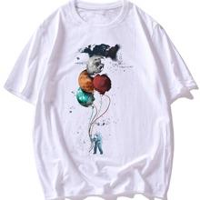 T-Shirt mit Karikatur Grafik und kurzen Ärmeln