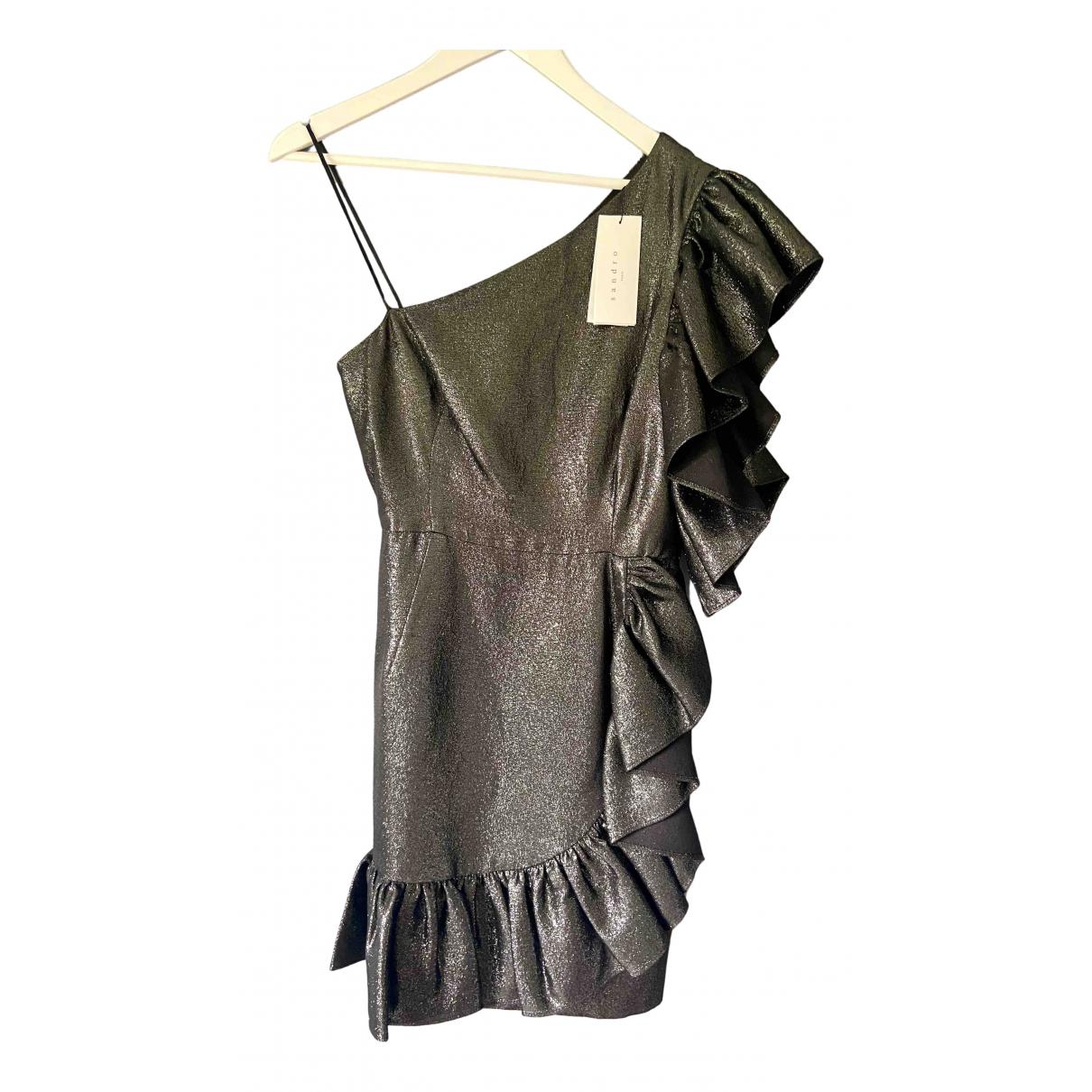 Sandro \N Silver Cotton dress for Women 40 FR