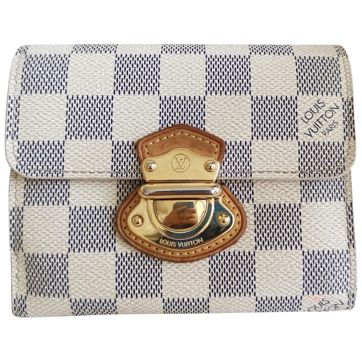 Louis Vuitton \N Portemonnaie in  Beige Leinen