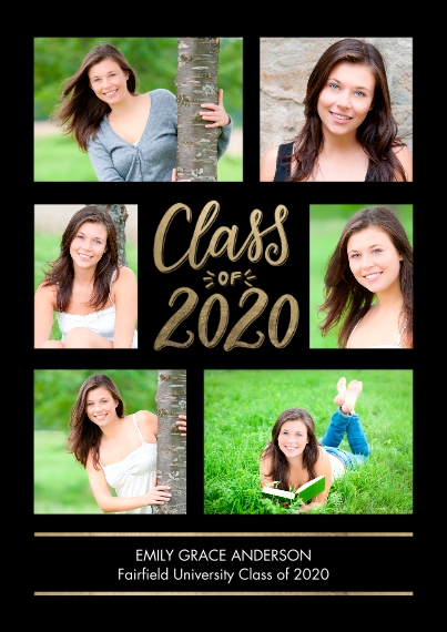 2020 Graduation Announcements 5x7 Cards, Premium Cardstock 120lb with Rounded Corners, Card & Stationery -Grad 2020 Memories by Tumbalina