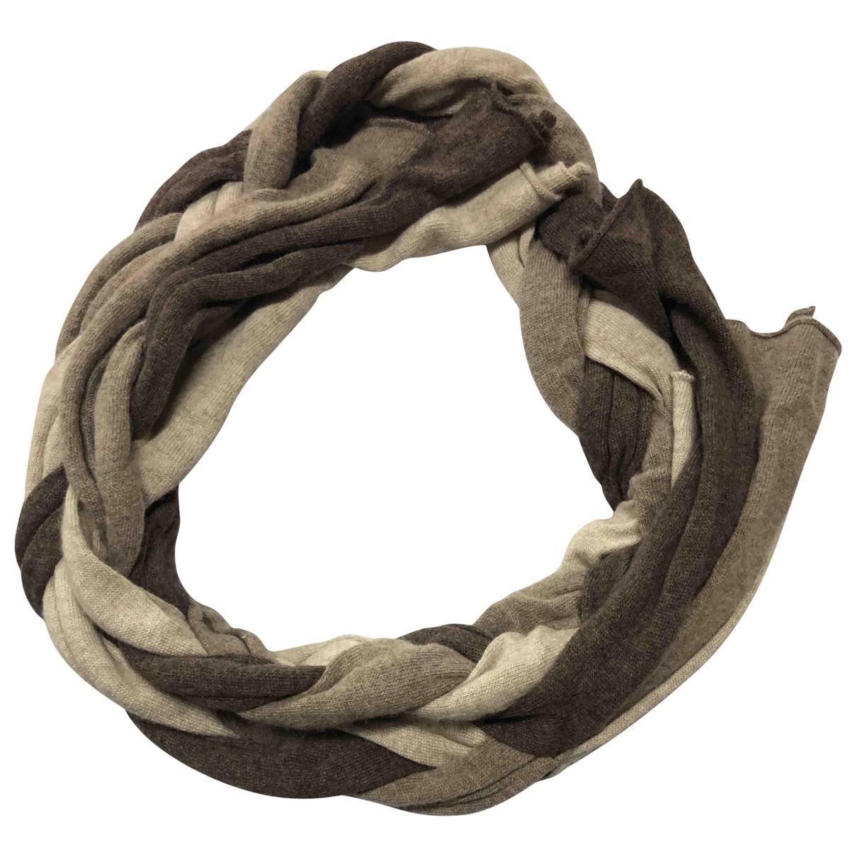 Armani Collezioni \N Schal in  Beige Wolle