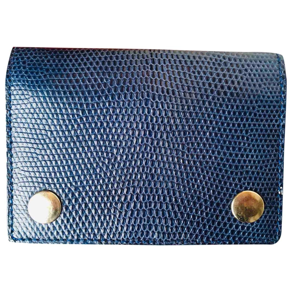 - Petite maroquinerie   pour homme en lezard - bleu