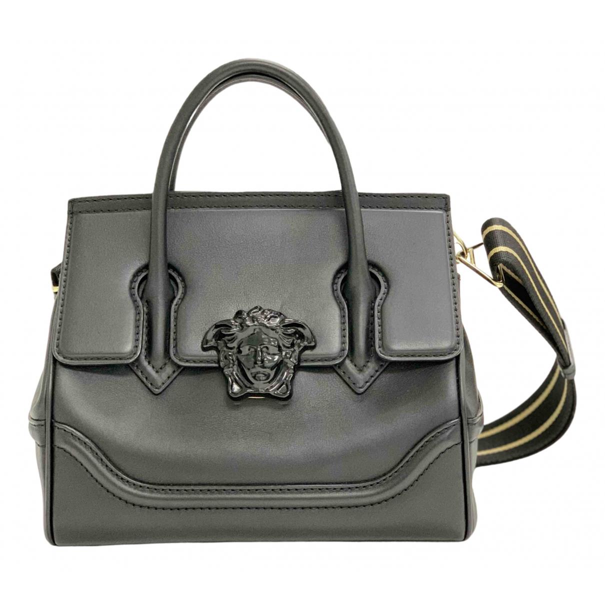 Versace Palazzo Empire Handtasche in  Schwarz Leder