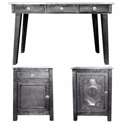 BM155317 3 Piece Of Traditional Style Wooden Console Table with Desk