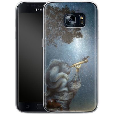 Samsung Galaxy S7 Silikon Handyhuelle - Cosmic Wanderer von Dan May