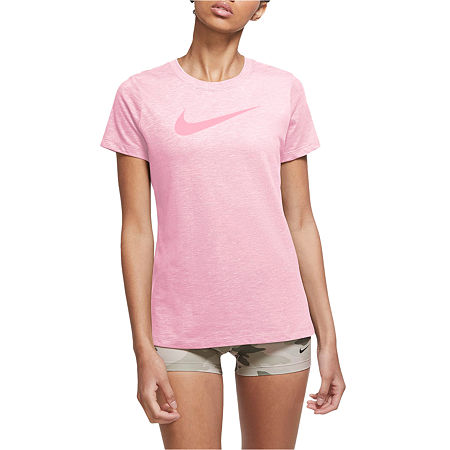 Nike Womens Crew Neck Short Sleeve Graphic T-Shirt, X-large , Pink