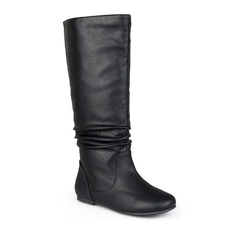 Journee Collection Womens Jayne Slouch Boots, 7 1/2 Medium, Black