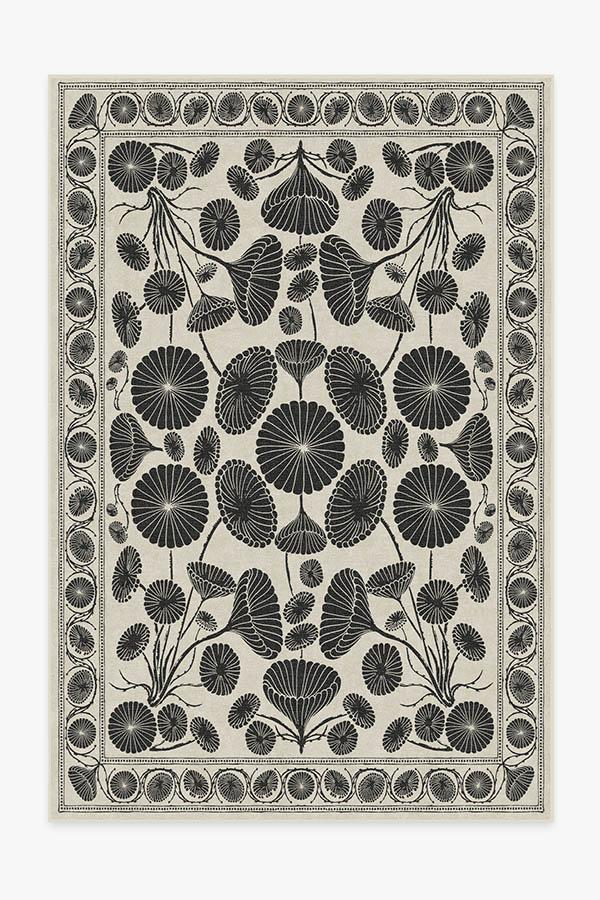 Washable Rug Cover | Cynthia Rowley Suzani White Rug | Stain-Resistant | Ruggable | 6'x9'