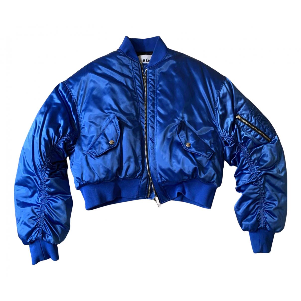 Msgm - Veste   pour femme - bleu