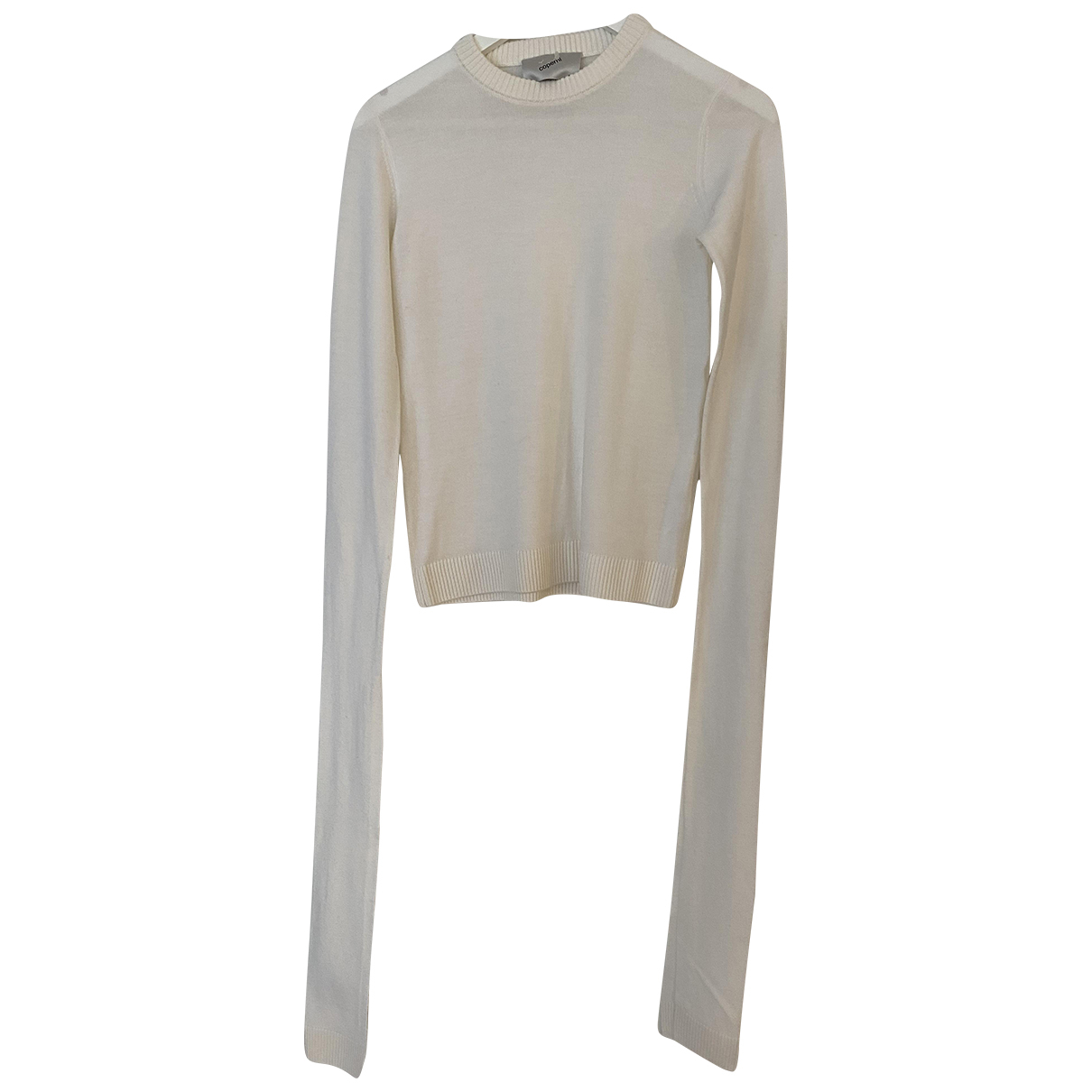 Coperni N White Wool Knitwear for Women 8 UK