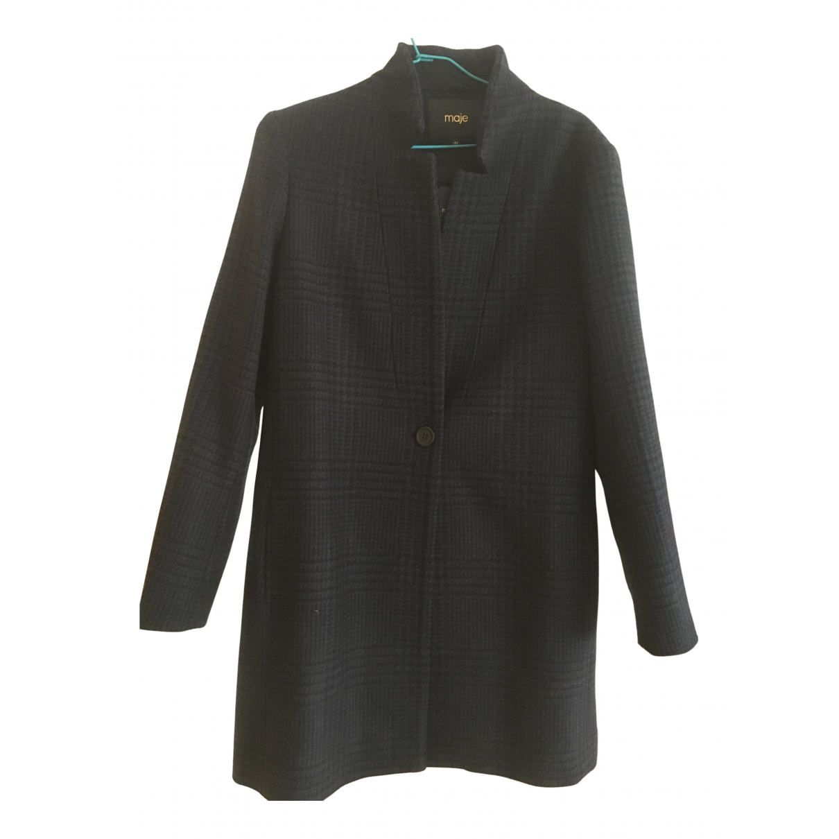 Maje - Manteau   pour femme en laine - multicolore