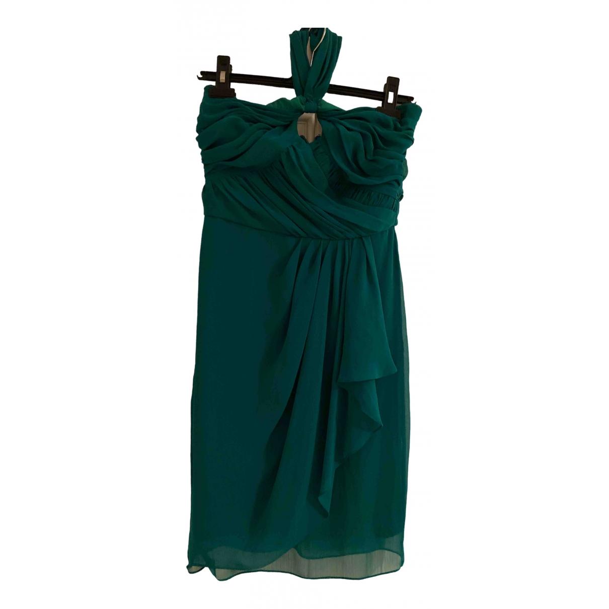 Badgley Mischka \N Kleid in  Gruen Viskose