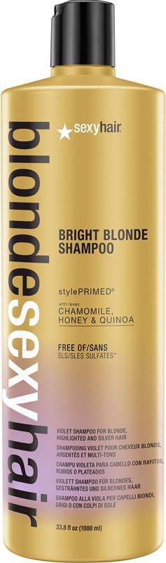 Blonde Sexy Hair Bright Blonde Shampoo Violet Shampoo for Blonde - 33.8oz