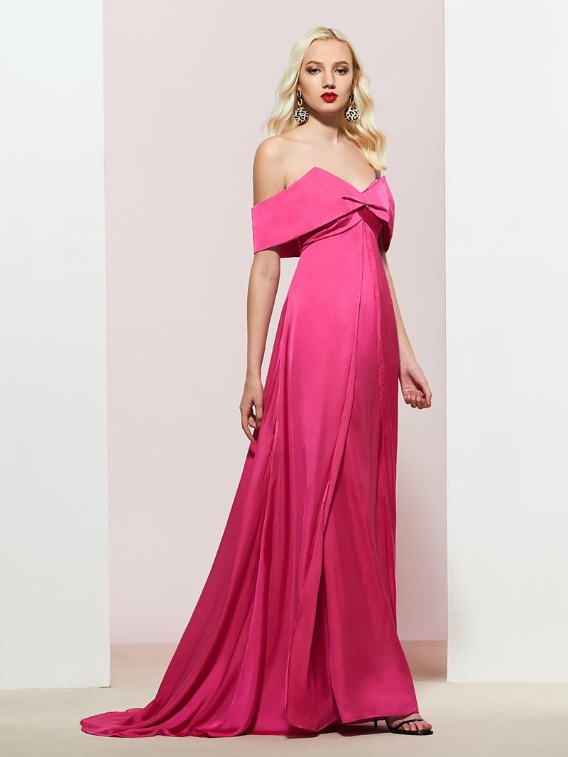 A-Line Off-The-Shoulder Prom Dress