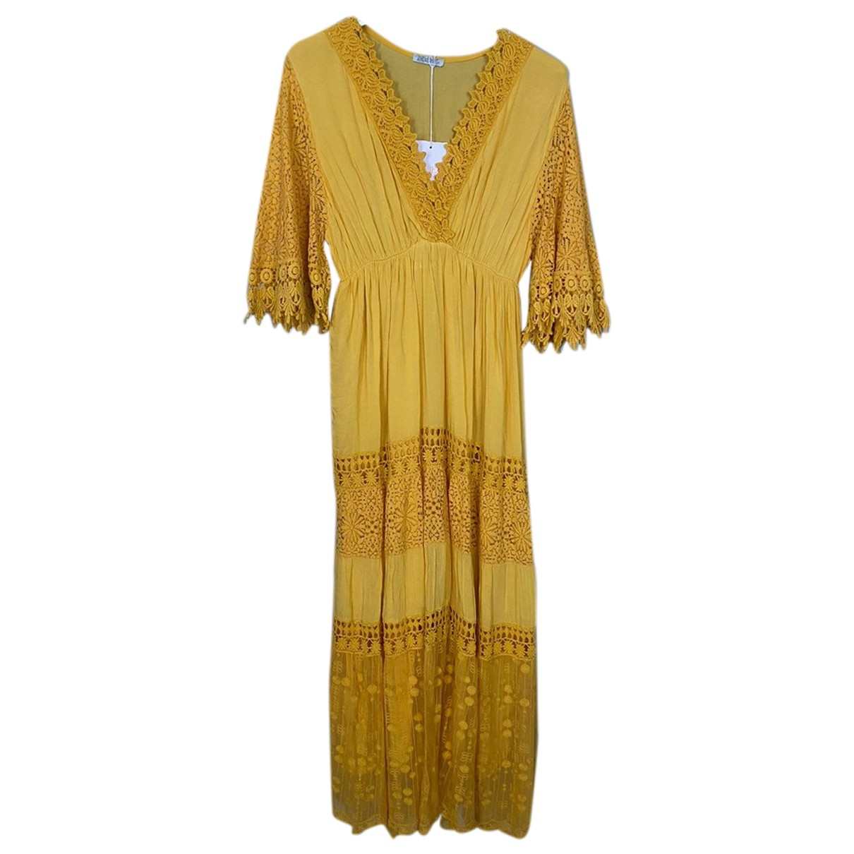 Non Signé / Unsigned \N Yellow Lace dress for Women One Size FR