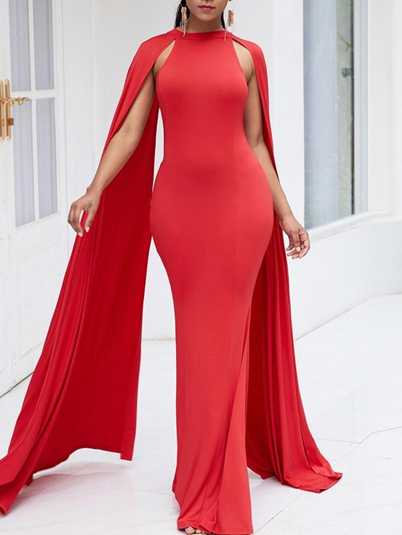 Ericdress Floor-Length Long Sleeve Bodycon Party Dress