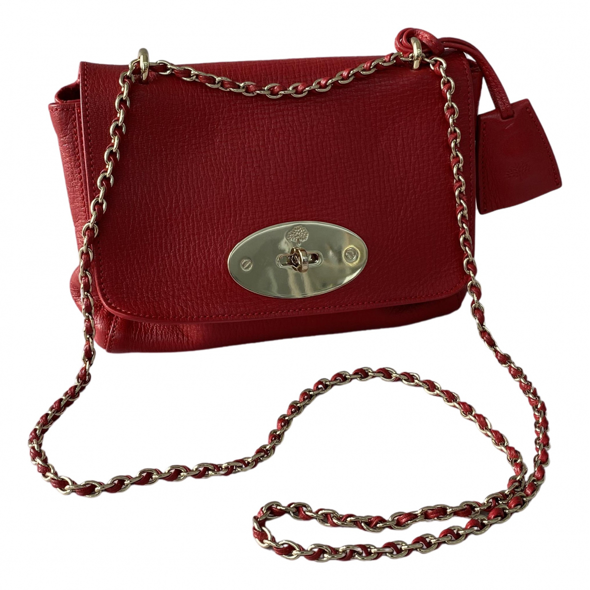 Mulberry Lily Handtasche in  Rot Leder