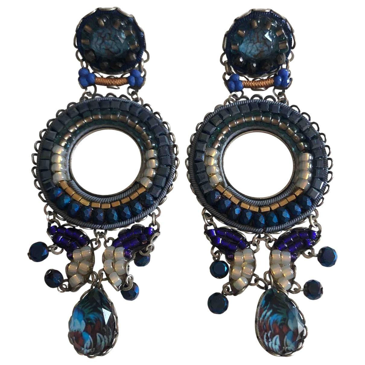 Ayala Bar - Boucles doreilles   pour femme en argent - turquoise