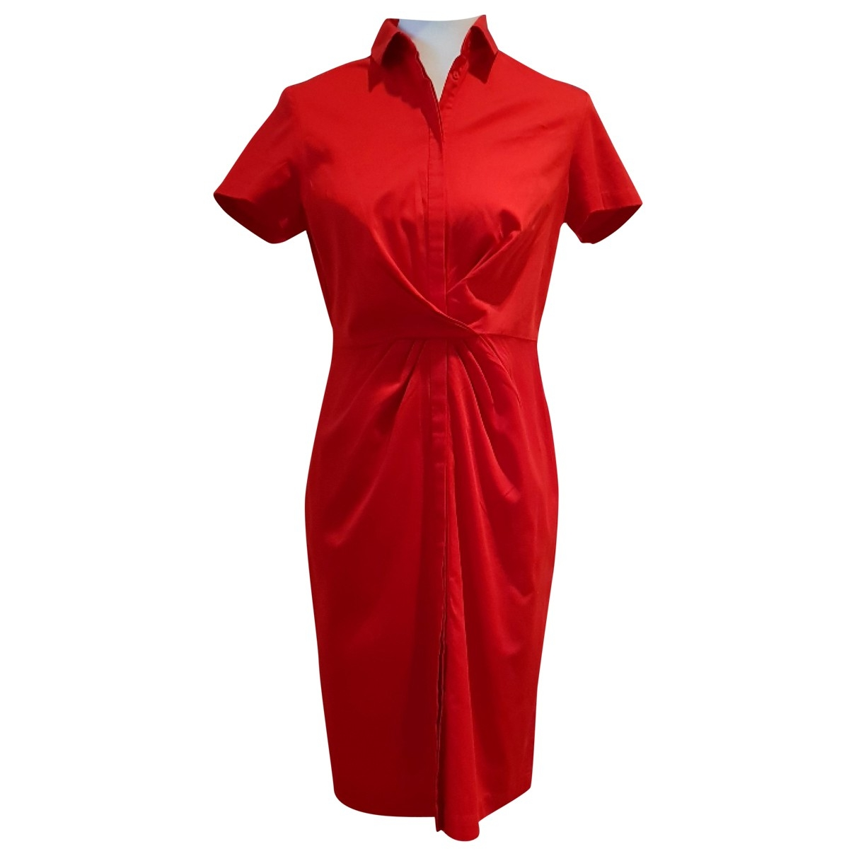 Boss \N Red Cotton dress for Women S International