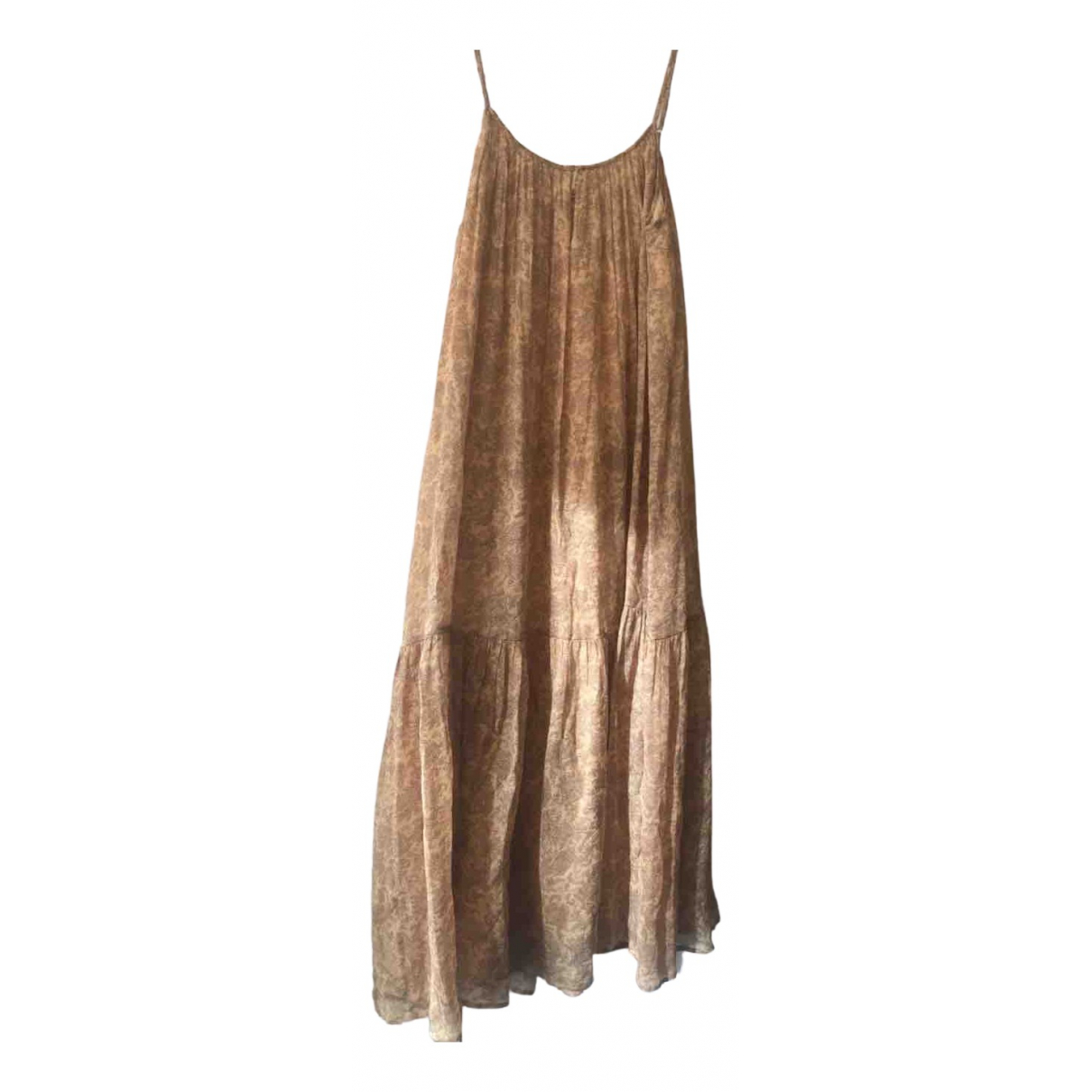 Mes Demoiselles ... - Robe   pour femme en soie - beige