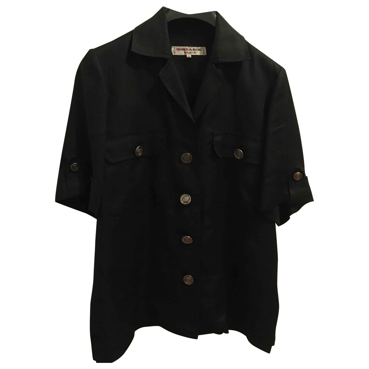 Saint Laurent \N Jacke in  Schwarz Leinen
