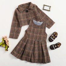 Toddler Girls Tartan Jacket & Dress