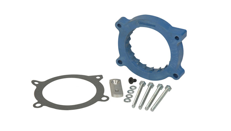Throttle Body Spacer 1 Inch Chevy/GM SUV 07-14 Blue Volant