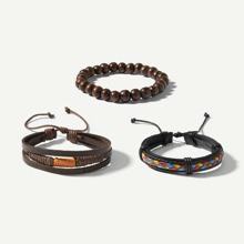Guys Woven & Beaded Bracelet Set 3pcs