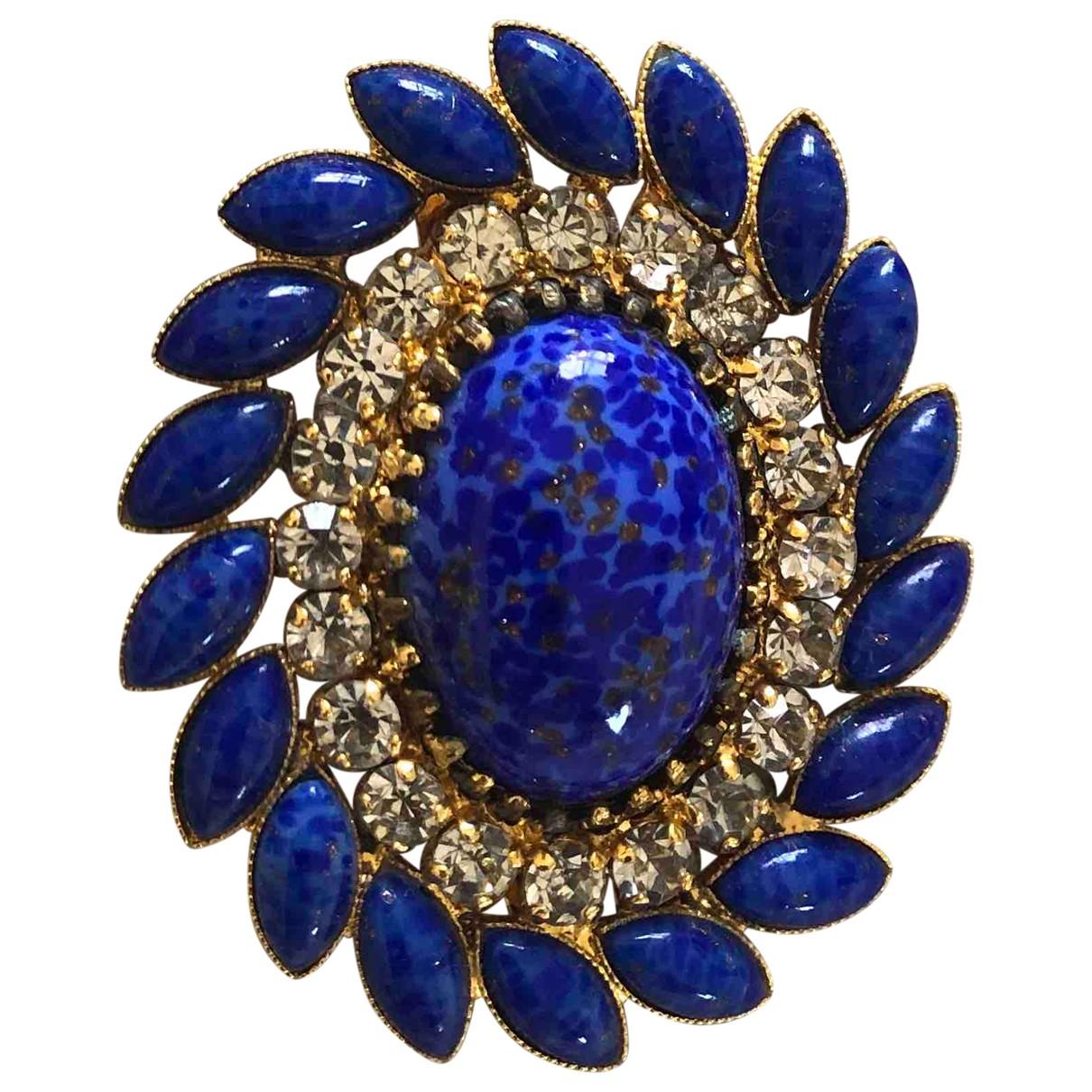 Broche en Metal Azul Non Signe / Unsigned
