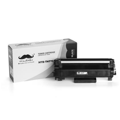 Compatible Brother TN770 Black Toner Cartridge Extra High Yield - With Chip - Moustache@
