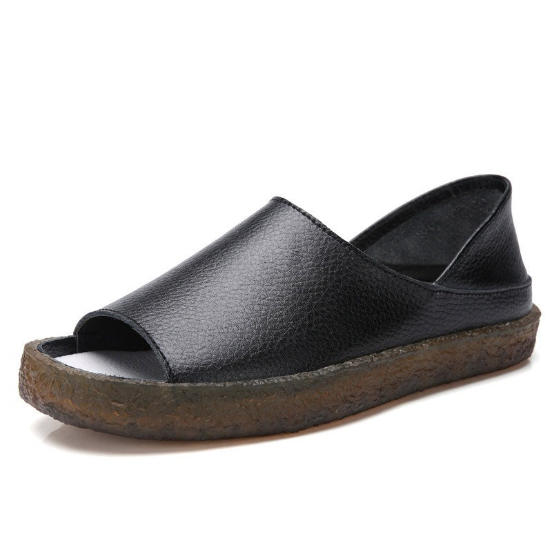 Ericdress Flat With Heel Covering Open Toe Plain Sandals
