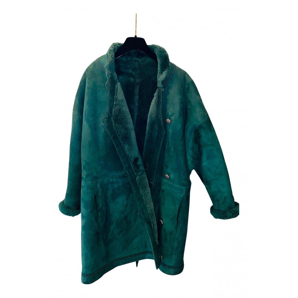 Yves Saint Laurent - Manteau   pour femme en mouton - vert
