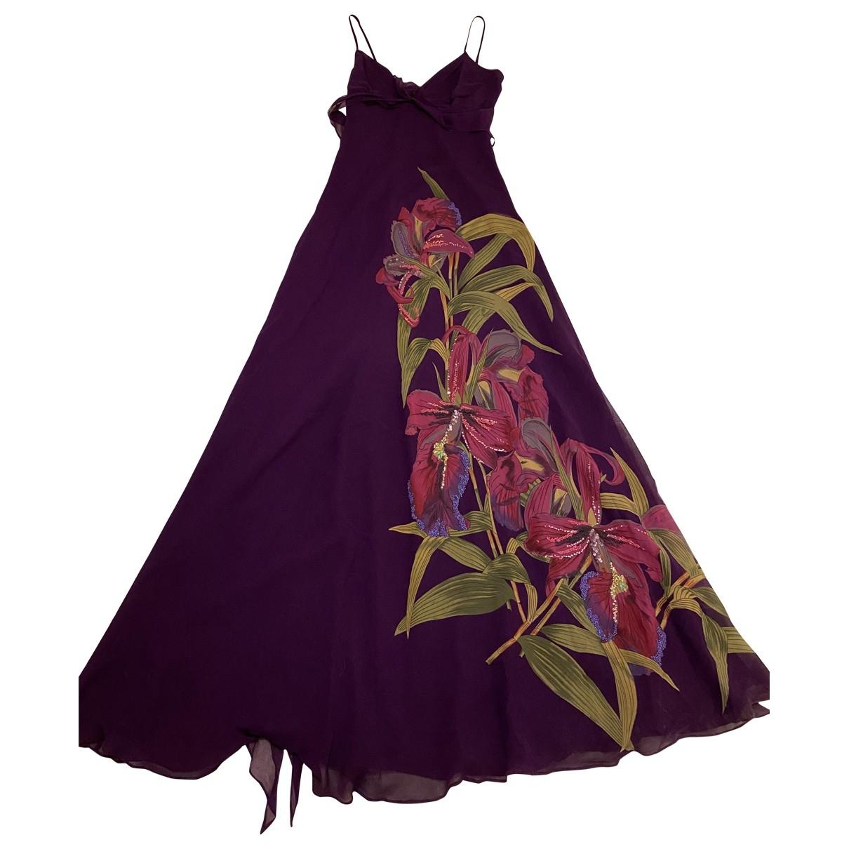 Karen Millen - Robe   pour femme en soie - violet