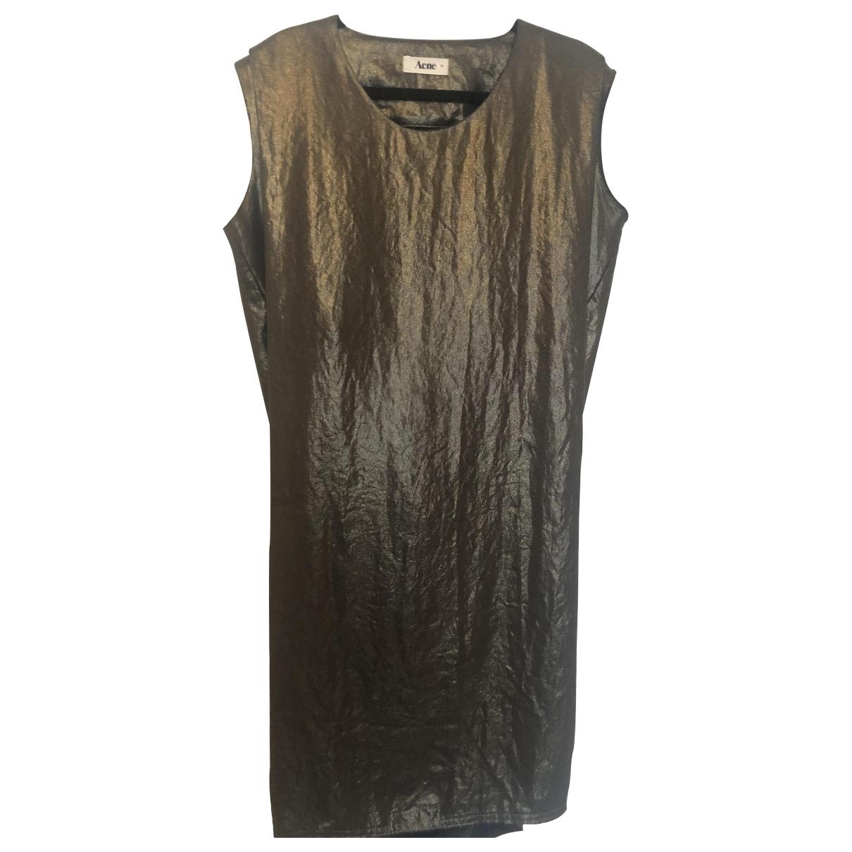 Acne Studios \N Gold dress for Women 36 FR
