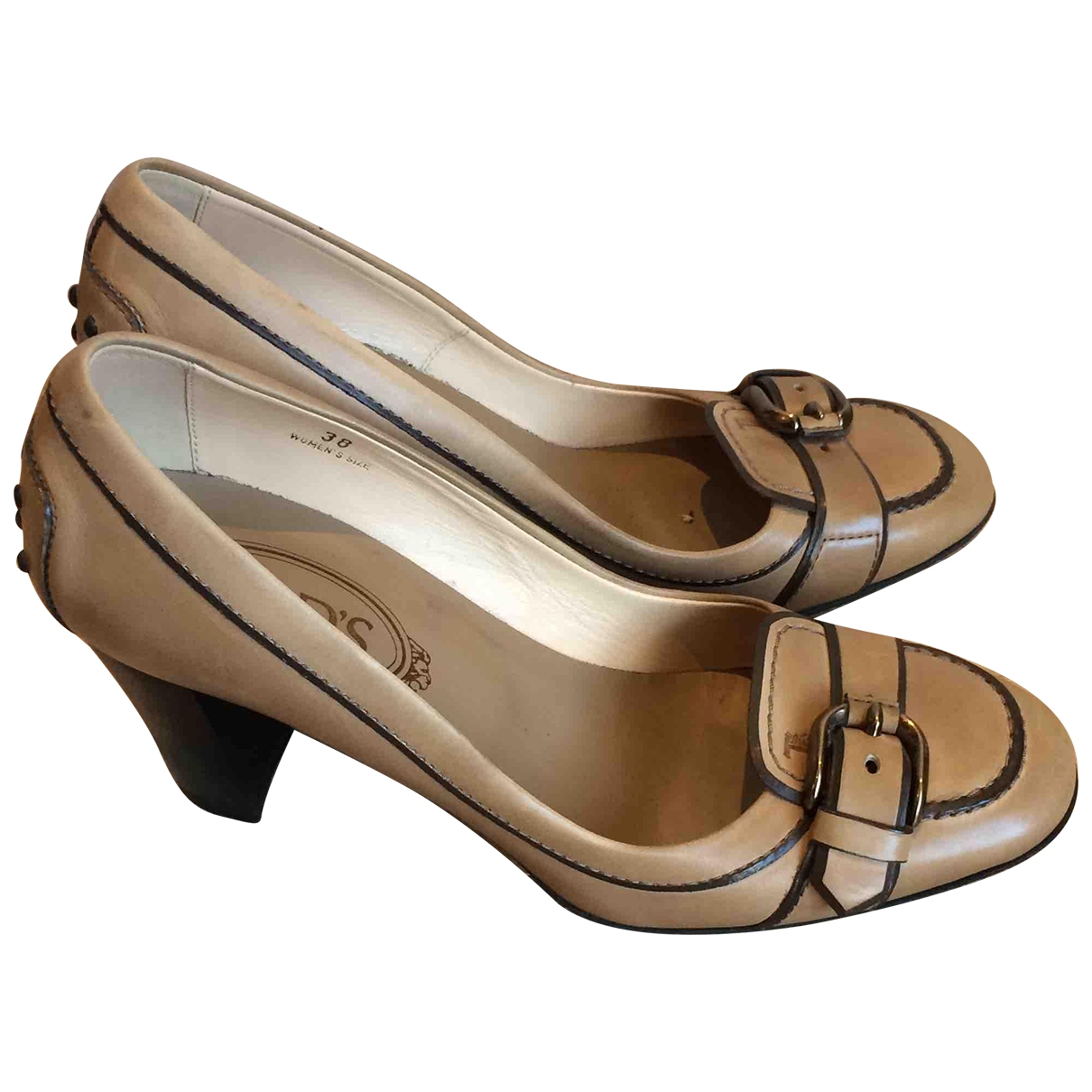 Tod's \N Camel Leather Heels for Women 38 EU