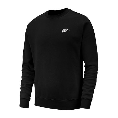 Nike Mens Crew Neck Long Sleeve Sweatshirt, Xx-large , Black