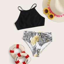 Zufaelliger tropischer Bikini der Maedchen