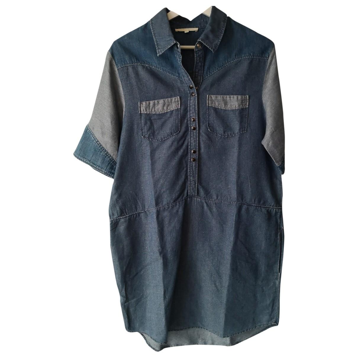 Maje - Robe   pour femme en denim - bleu