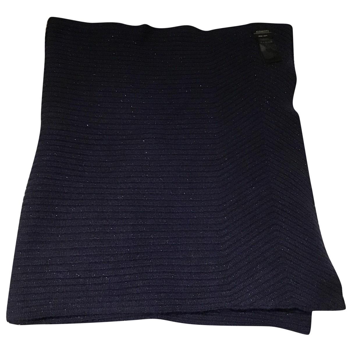 All Saints \N Blue Wool scarf for Women \N