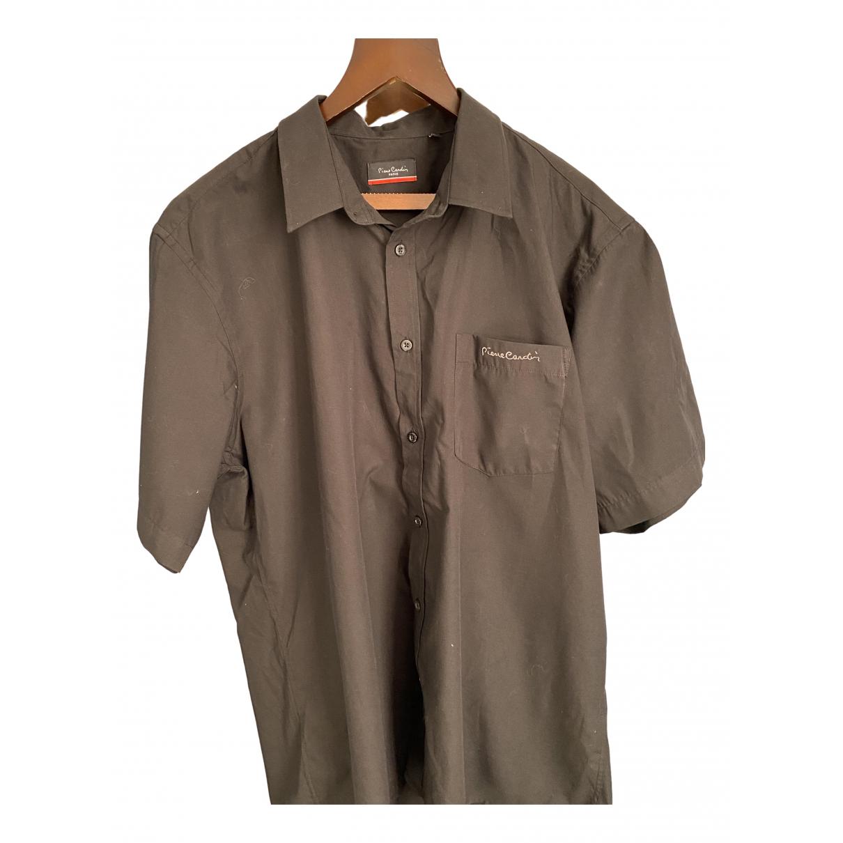 Pierre Cardin \N Black Cotton Shirts for Men 3XL International