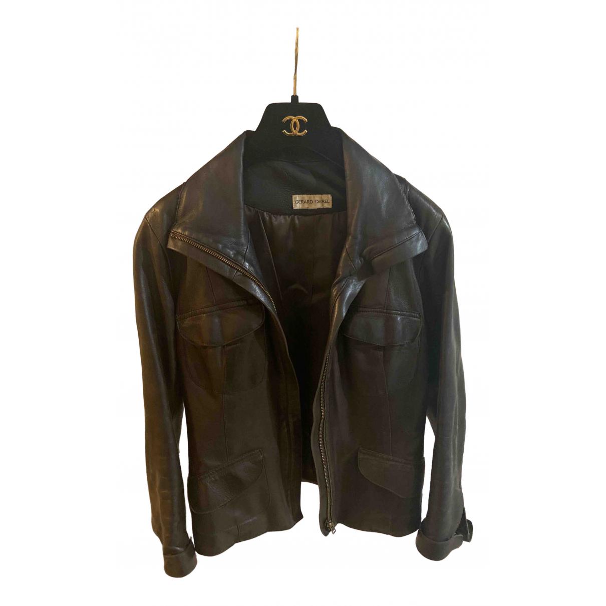Gerard Darel - Veste   pour femme en cuir - noir