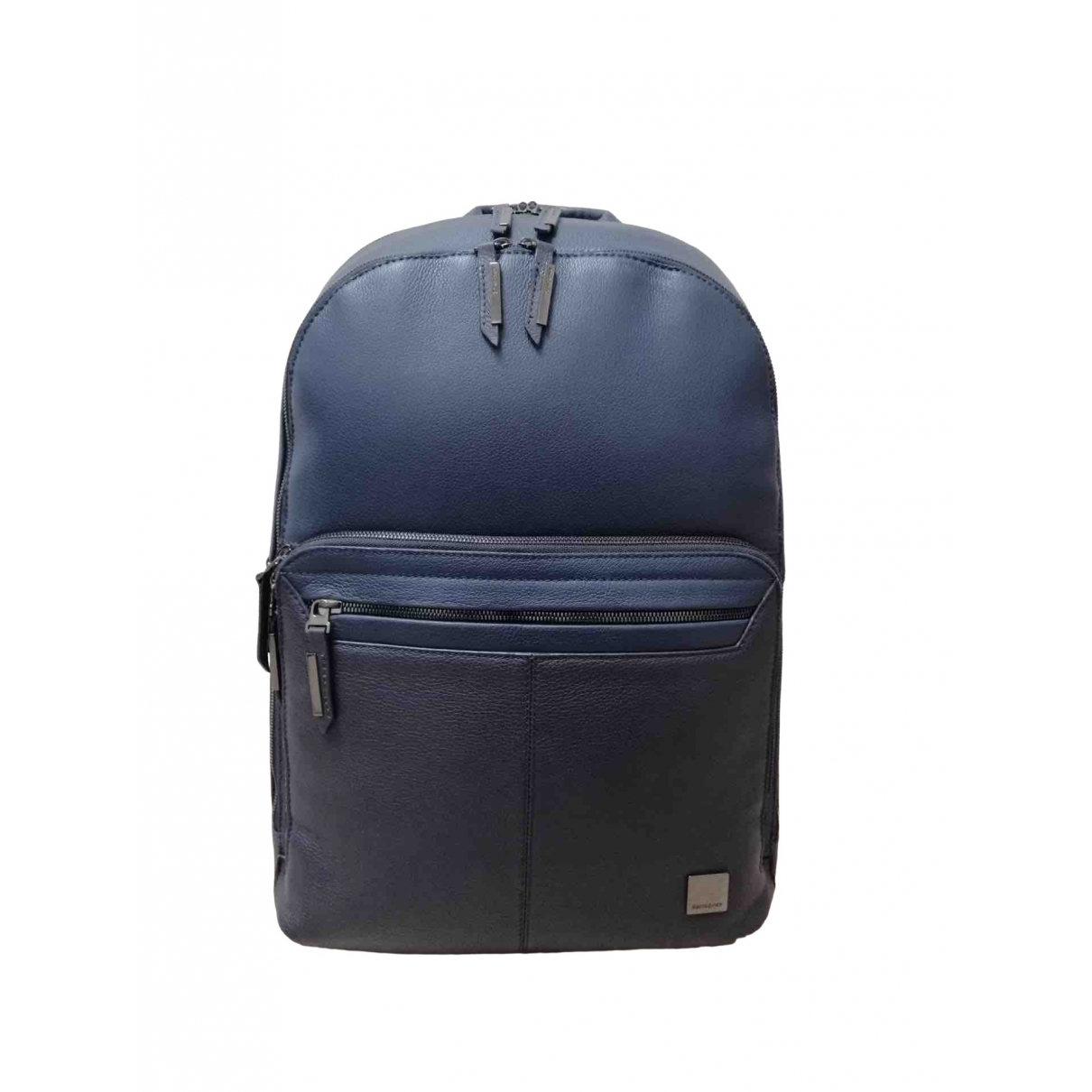 Non Signé / Unsigned \N Blue Leather bag for Men \N