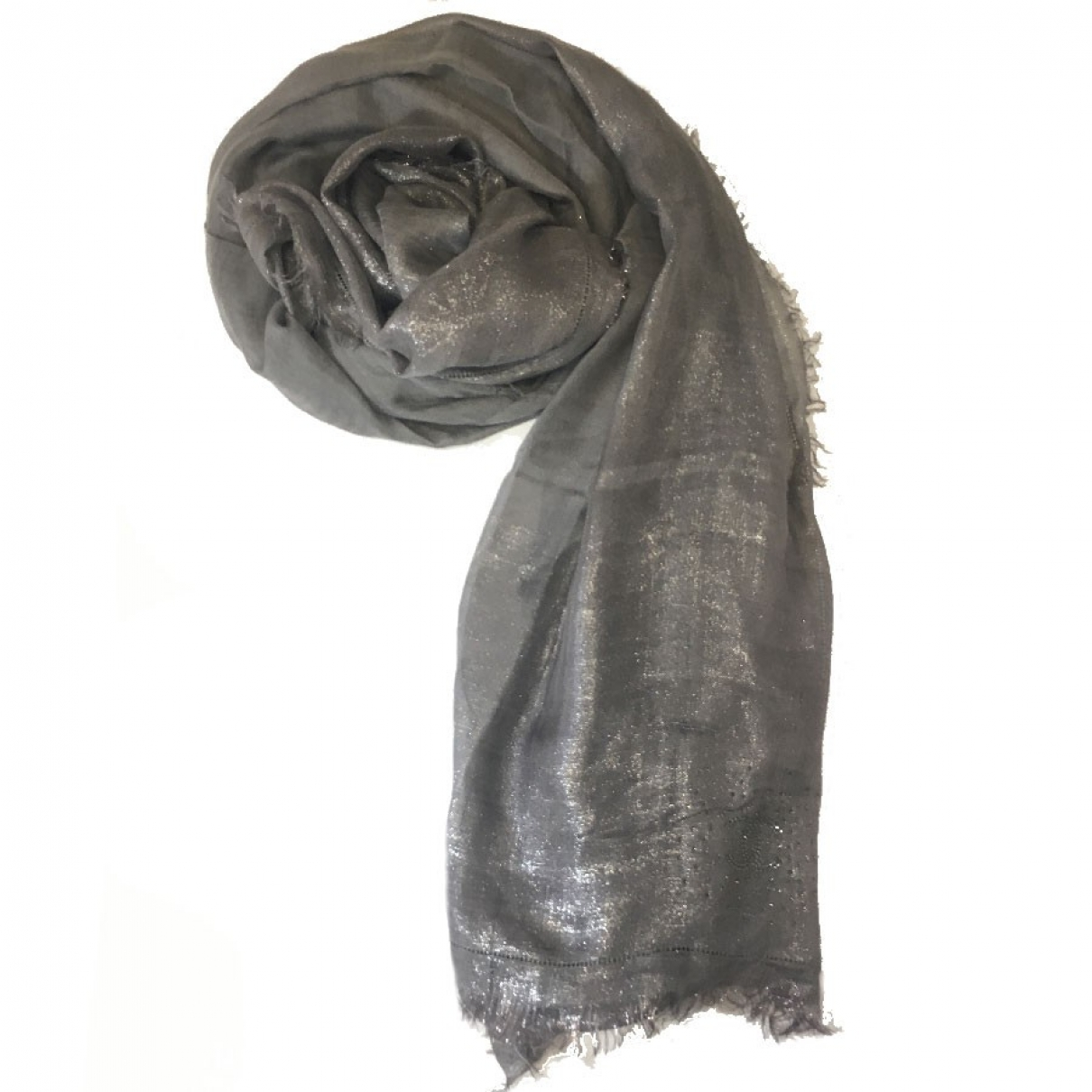 Chanel \N Silver Wool scarf for Women \N