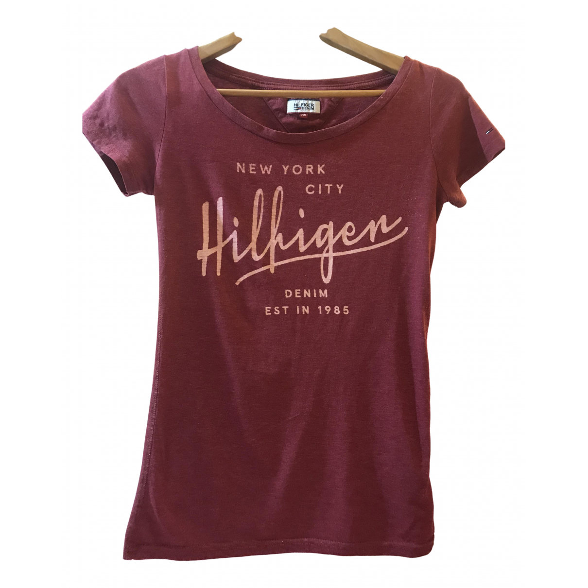 Tommy Hilfiger N Burgundy Cotton  top for Women XS International
