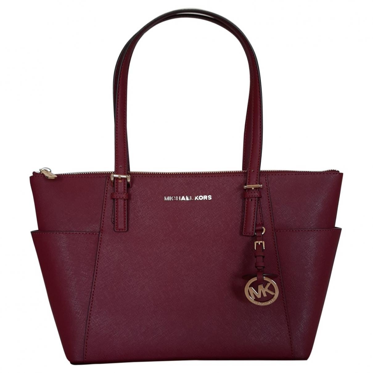 Michael Kors Jet Set Burgundy Leather handbag for Women \N
