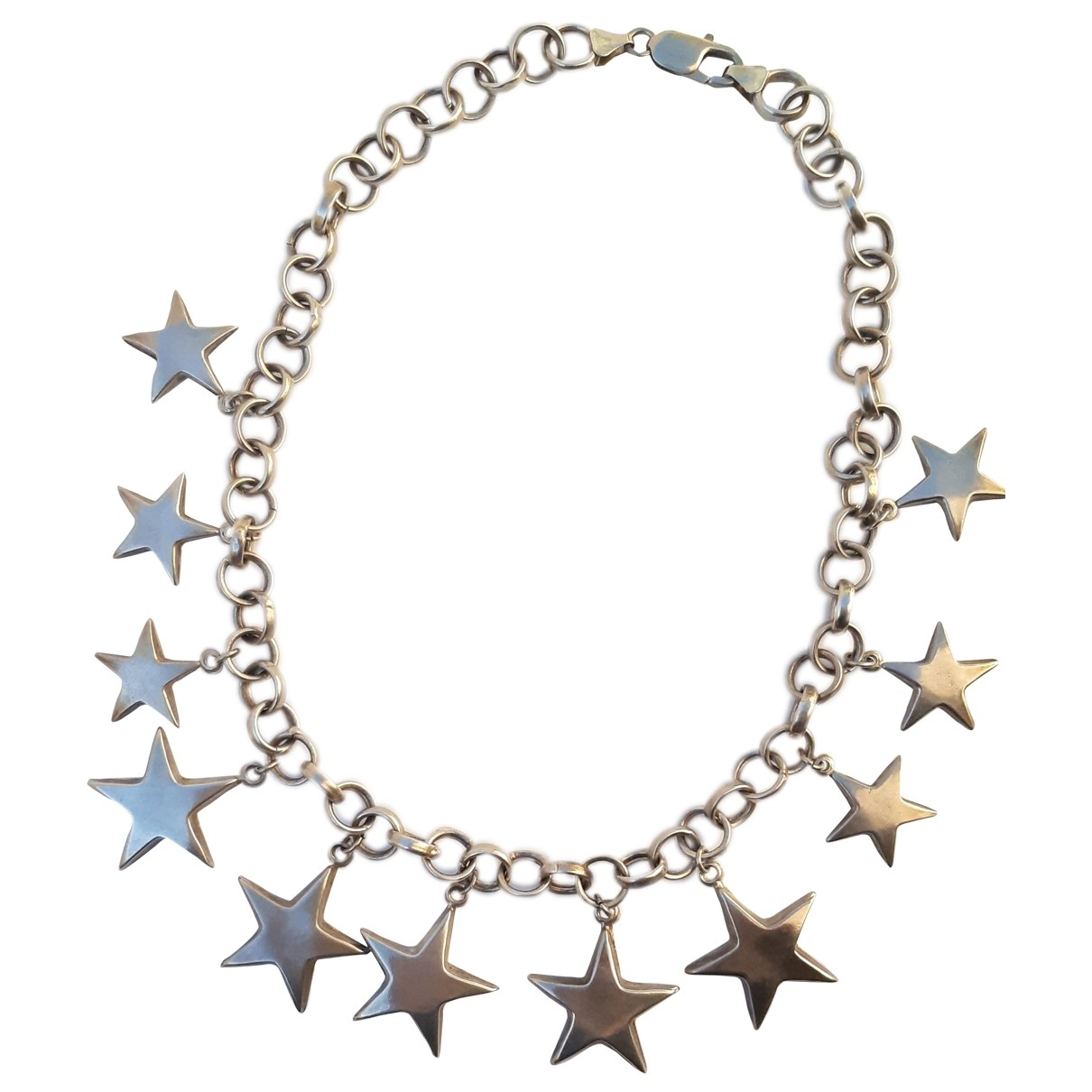 Non Signe / Unsigned Motifs Etoiles Kette in  Silber Silber